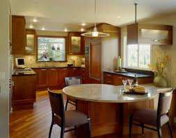 Kitchen Peninsula Traditional Style Kitchen Peninsula Design With Dining Table