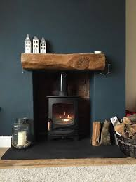 grey slate fireplace