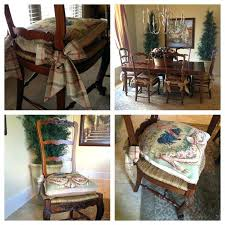 dining room chair pads needlepoint cushions with tie backs ladder back chairs rush seating dining room dining room chair pads