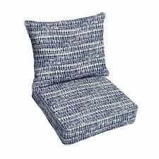 piped zipper 2 piece indoor outdoor lounge chair cushion set
