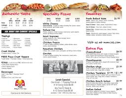 marcos printable menu pizza