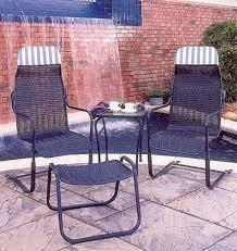 S Lloyd Flanders Bay Breeze Loom Perma Wicker Hi Back Spring High  Sling Patio Chairs