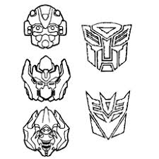 Transformers Mask Coloring Pages