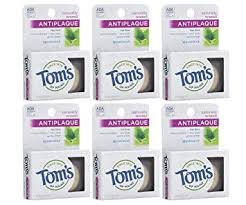 Tom's of Maine Natural Waxed Antiplaque Flat Floss ... - Amazon.com