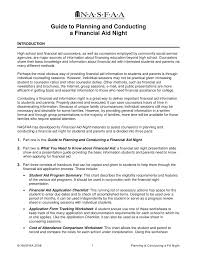 financial aid essay examples madrat co guide to planning and conducting a financial aid night
