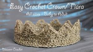 Crochet Crown Pattern Awesome Really Easy Crochet Crown Tiara All Sizes Baby Adult YouTube