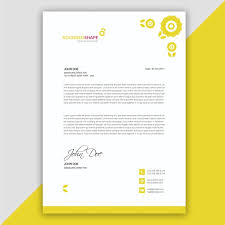 Sample Letter Head Yellow Letterhead Design Sample Template For Free Download