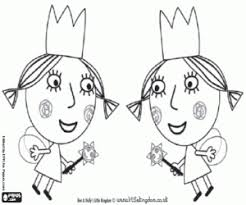 The Twins Fairies From Ben And Holly Coloring Page Printable Game