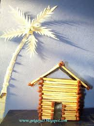 How To Make House With Chart Paper Aspiring Art Sola Wood Art