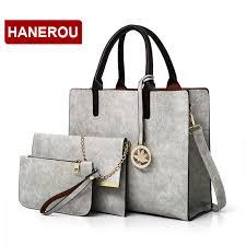 home women s bags handbags 2018 new women bags set 3 pcs leather handbag women large tote bags las shoulder bag handbag messenger bag purse sac a