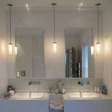 bathroom mirrors and lighting. 2 pendants and 1 can in the middle something similar lights penne bathroom light mirrors lighting