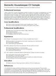 Housekeeping Resume Examples Housekeeping Resume Examples Samples