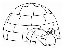 Small Picture Igloo Coloring Pages GetColoringPagescom