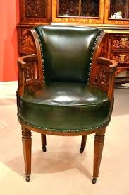 victorian office chair. Victorian Office Furniture Chair Antique Leather Desk Armchair Ref No .