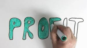 whiteboard time lapse of the word profit for topic introduction in whiteboard time lapse of the word profit for topic introduction in powerpoint presentations etc