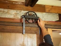 outdoor barn door track system
