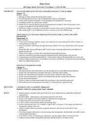 resume specialties examples specialty manager resume samples velvet jobs