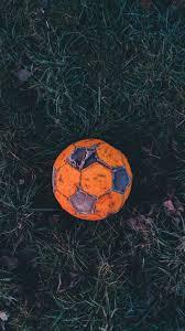 938x1668 Wallpaper Soccer Ball, Football, Old, Grass, Hoarfrost