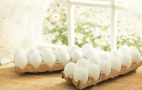 Egg Crate Design Easter Theme White Eggs In An Egg Crate On The Window In A Sunny
