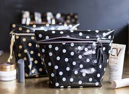 view in gallery tall oilclotch makeup bag