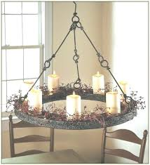 outdoor candle chandelier hanging within view of outdoor candle chandelier