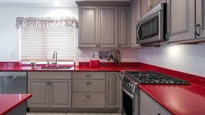red countertop