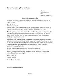 Advertising Proposal Letter Sample 10 Msdoti69 Threeroses Us