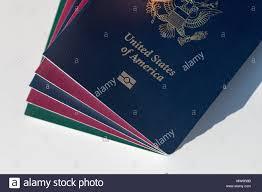 Us Passport Design Dark Blue Us Passport Alongside Eu Style Red And Green
