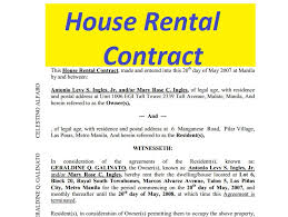 House Rental Contract Free To Print - Doc And Pdf | Sample Contracts ...