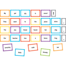 Silly Sentences Pocket Chart Cards
