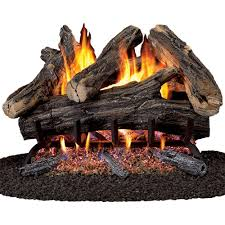 vented natural gas fireplace log set