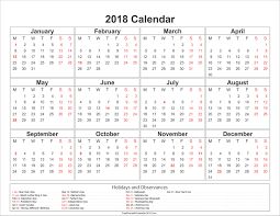 printable calendar 2018 word free printable calendar 2018 with holidays in word excel pdf ripping