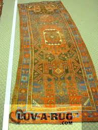 area rug runner on carpet without an underpad rug has stretched out of shape