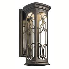 kichler 49227ozled franceasi energy efficient dark sky outdoor wall sconce