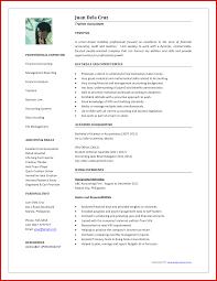 Fresh Accounting Job Resume Format Wing Scuisine