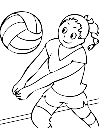 Small Picture Volleyball Coloring Page Handipoints