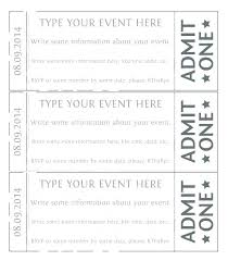Admit One Gold Event Ticket Template Free Online Sports Ticket