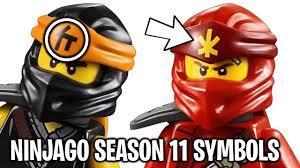 The LEGO Ninjago Ninja's NEW Symbols for Season 11 Explained! - YouTube