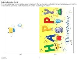 folding card template free download quarter fold birthday card template in printable
