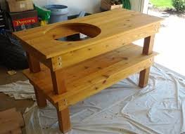 awesome green egg grill table plans of big green egg table