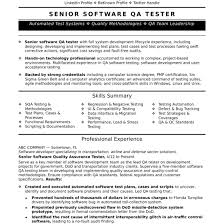Experienced Qa Software Tester Resume Sample Monster Com Within For