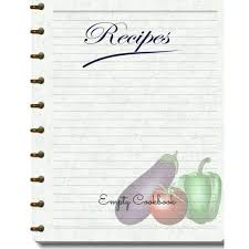 Recipe Journal Template Cookbook Template Amazon Com