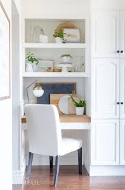 kitchen office nook. Build In A Small Office Nook Your Kitchen With Shelves And Desk  Covered C
