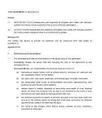 sample of contracts loan agreement document free agreements word term format