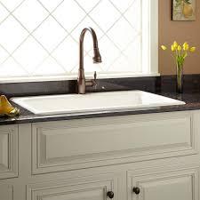 36White Single Bowl Drop In Kitchen Sink