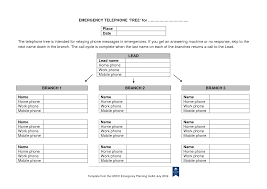 Calling Tree Template Excel Emergency Phone Tree Template Magdalene Project Org