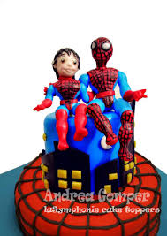 Boy Cake Topper Spiderman Cake Topper And Boy Custom Boy Etsy