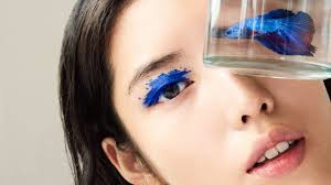 makeup colors aqua xl color paint eye shadow in matte ultramarine blue and brow gel in transpa by make up for ever