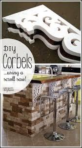 diy corbels for a breakfast bar