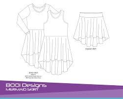 Mermaid Skirt Pattern Beauteous PDF Pattern Mermaid Skirt FREE BOO Designs